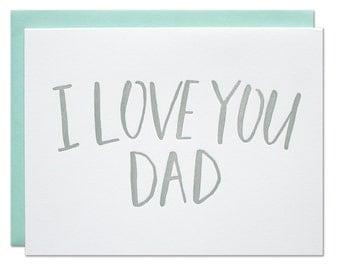 Love You Dad Letterpress Card