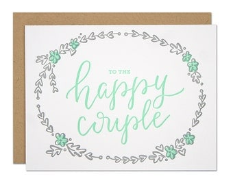 Happy Couple Letterpress card