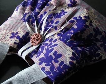 Kimono Round Tote - Hagi