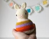crochet rattle, baby toy, baby rattle, crochet rabbit, kids room decor, crochet amigurumi animal, amigurumi doll, australian shop .. sunrise