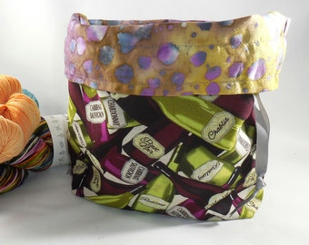 Wine Time project bag by AnniePurl