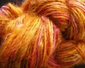 EVENING HALO Handspun Wool Yarn Fleecespun Coopworth 115yds 3.25oz 8wpi aspenmoonarts knitting