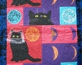 Moon Kitty Cat Quilt Blanket For Mew