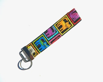 Colorful Cats Key Fob For Mew Cat Lover Key Chain, Gift For Cat Lover