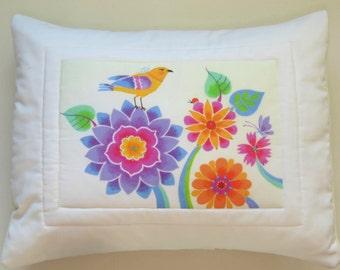 "Pillow Cover - ""Ariel's Garden"" -Design"
