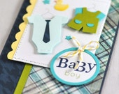 Baby boy Congratulations Card. Baby Shower Card. New Baby Card