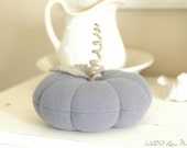 Lavender Wool Pumpkin, Recycled Wool, Cottage Chic Decor, Fall Decor, Autumn, Purple Pumpkin, Adjustable Wire Stem