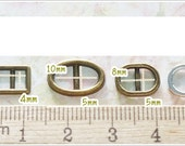 Tiny Mini Metal Buckle - 4 pcs - Blythe Doll Dress Supplies