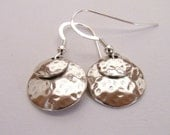 Hammered Sterling Silver Earrings, Hammered Sterling Silver Earrings, Disc Earrings, Hammered Rounds Sterling Silver Earrings