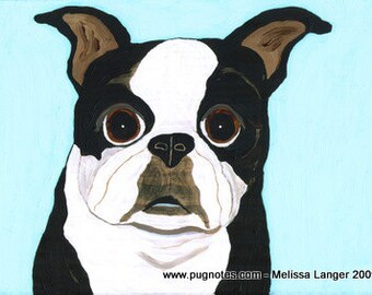 Note Cards - Boston Terrier by Melissa Langer
