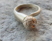 Celtic Knot Ring Sterling Silver Hand knotted Kazaziye woven Fine Silver Mat Silver