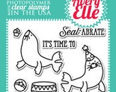 Avery Elle Clear Photopolymer Rubber Stamp Set - seal abrate