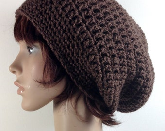 Super Slouch Beanie in Chocolate Brown - Unisex