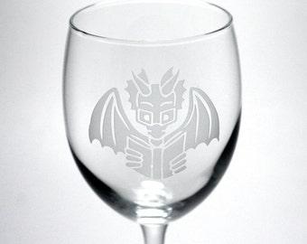 Book Dragon Wine Glass - nerdy wedding glassware