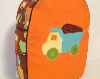 Custom Made Truck Backpack for a Toddler/Preschooler