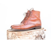 size 8 vintage brown Italian leather Cole Haan lace up boots