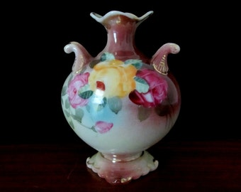 Royal Crown Kinran Antique Vase From Nippon