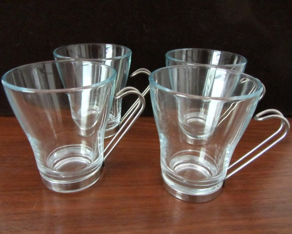 Italian Glass Coffee Maker : Bormioli Rocco Glass Coffee Cups Or Tea Cups With by MagyarBeader