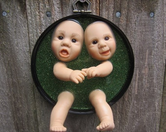Two Heads are Better than One -  Doll Wall Plaque