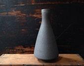 SALE!  Stoneware Reactor Vase in matte slate by sara paloma.  Bud vase modern ceramic pottery