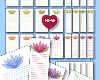 2017 Printable COMPACT/PERSONAL Size Calendar Planner Instant Download Monthly Bookmark Perpetual Weekly Calendar PDFs Filofax Refill