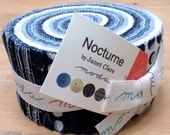Jelly Roll - Nocturne by Janet Clare for Moda - includes 40 pieces of fabric
