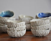 Tiny Geode Bowl - Choice of Color Small White Ceramic Bowl Porcelain Dish