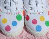 Gumball Shoes, Hand painted canvas, toddler size 9