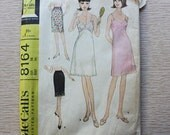 """36"""" Bust - 1960s Sewing Pattern - McCalls 8164 Misses' Set of Slips"""