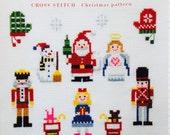 Cute Cross Stitch Christmas Designs Patterns - Japanese Craft Book