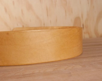Leather Guitar Strap - Gold - Handmade by Moxie & Oliver