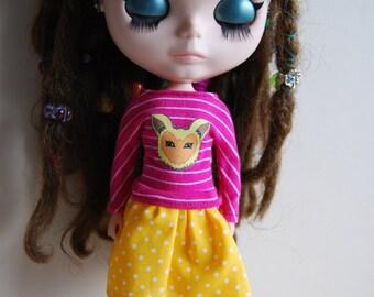 Blythe printed t shirt and skirt set