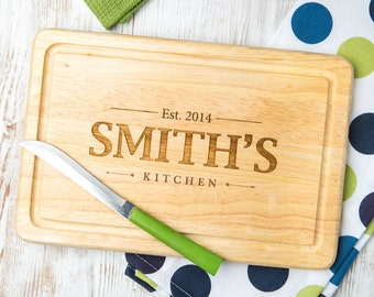 Personalised Family Kitchen Engraved Cutting Board