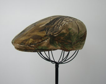 RealTree Camouflage Flat Jeff Cap, Ivy Cap, Driving Cap