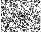 Doodled Daisies Silk Screen Ready To Ship
