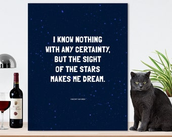 Starry Night - Free Ship in US. Van Gogh, Van Gogh art print, star art, starry sky art print, nursery art, nighttime sky, Vincent Van Gogh