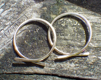 10K Gold Omega Hoops ... yellow gold hoops petite gold hoops gold open hoops minimalist gold hoops