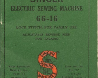 Singer 66-16 Electric Sewing Machine User Manual