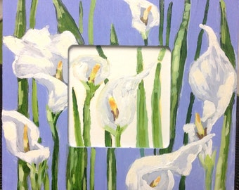 Painted frame Lilies