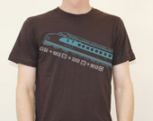 Men's Brown Bullet Train Pictogram T Shirt