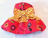Female Dog Diaper Skirt  Perfect for your dog in Season and House Training Red and Gold Dots