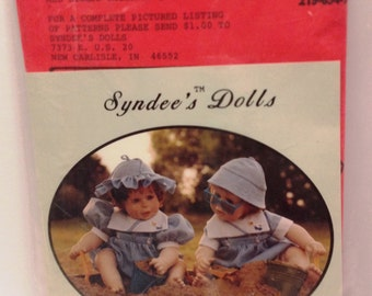 """Syndee's Doll Dress Pattern #110 """"Tim & Tam"""" Fits PUNKIN and others"""