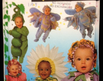 Simplicity 5882 Costume Pattern Peas in Pod Daisy Flowers Fairy UNCUT 1/2 to 4