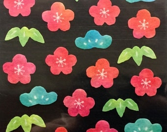 Japanese Stickers - Plum Blossom Stickers - Pine Stickers - Bamboo Leaves Stickers - Masking Tape Stickers -  S178
