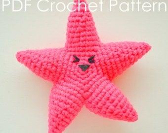 Happy Starfish - Crochet Amigurumi PDF Pattern