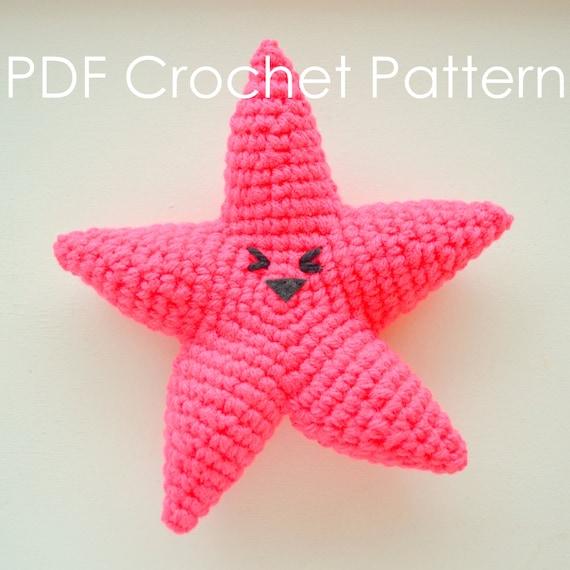 Amigurumi Starfish Pattern : Happy Starfish - Crochet Amigurumi PDF Pattern from ...