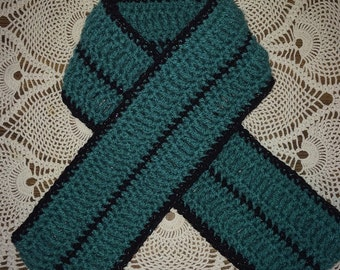 Jade and Black Infinity Scarf