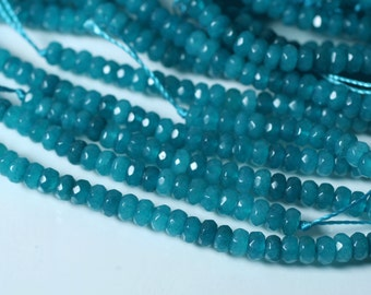 Candy jade faceted rondelle 4mm lake blue 36 pcs (item ID CJRN4mLB1)