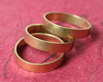 Solid brass band ring blank, one piece (item ID FA00098)