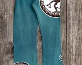 Yoga pants/ Batik pants/ Handmade pants/ Shiva pants/ Green pants/ Festival pants/ Yoga clothing